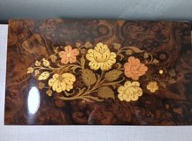 Beautiful and Elegant Inlaid Floral Design Wood Reuge Music Jewelry Box in Conroe, Texas