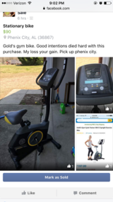 GOLD's Gym stationary Bike in Columbus, Georgia