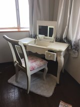 antique vanity with matching chair in Okinawa, Japan