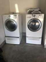 Lg front loader washer and dryer in Elgin, Illinois