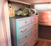 Beautiful refurbished girls' vintage chest of drawers/dresser in Bartlett, Illinois