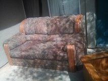 couch and love seat set with pull out bed in Yucca Valley, California
