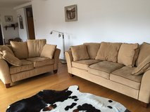 light caramel brown couch with a love seat in Stuttgart, GE