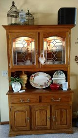 China Cabinet, Solid Oak, Lighted in Perry, Georgia