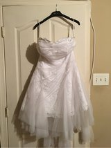 Short White Tulle Dress Sz 14 in Waldorf, Maryland