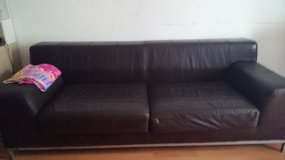 Real leather couch in Ramstein, Germany