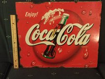 "ENJOY COCA SIGN METAL COKE JAPAN read condtion 18"" wx 14.75"" L YEAR 2000 in Okinawa, Japan"