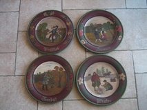 Vintage German painted wooden plate (wall decor) in Stuttgart, GE