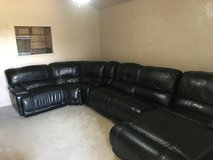 Black leather sectional (6pieces) in Fort Hood, Texas