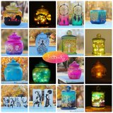 Hand-painted Glass Lanterns. Perfect Gifts for Weddings, Birthdays, Sororities, and more! in Perry, Georgia