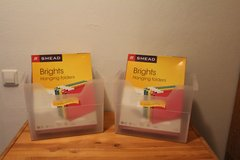 Office supplies - set of 2 file boxes and hanging file folders in Ramstein, Germany