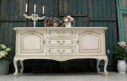 Beautiful Shabby Chic Sideboard Dresser Cabinet Lovely Rare Vintage Piece in Ramstein, Germany