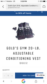 Gold's Gym 20 LB Adjustable Conditioning Vest in 29 Palms, California