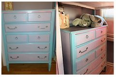 Beautiful refinished / refurbished vintage chest of drawers / dresser in Bartlett, Illinois