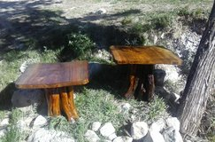 Rustic Wooden Log Endtables (Handcrafted) in Alamogordo, New Mexico