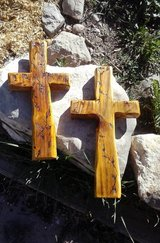 Rustic Wooden Crosses(Leaves) Handcrafted in Alamogordo, New Mexico