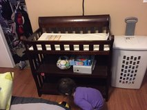 dark wood changing table in Travis AFB, California