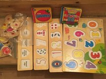Assorted wood puzzles in Naperville, Illinois