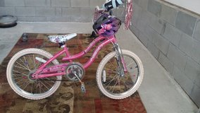 Helmet, knee and angle pads (new condition) Girl bicycle in Fort Campbell, Kentucky
