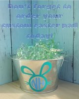 Customized Easter Pails $5 in Okinawa, Japan