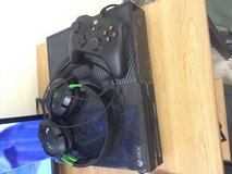 Xbox one with wire controller and turtle beaches in Fort Irwin, California