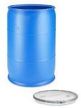 Uline 55 Gallon Water Barrel, Blue,with drum dolly in San Clemente, California