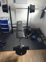 Weight Bench and weights in Ramstein, Germany