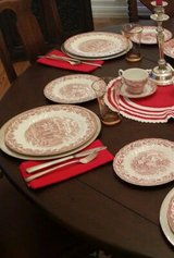English  Transferware Red  for 15 people in Wiesbaden, GE
