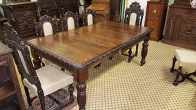 Carved Oak Extending Dining Table others available free delivery in Alconbury, UK