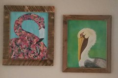 Hand painted canvases in Fort Rucker, Alabama