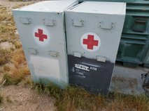 2 Metal Military Medical Cabinets - Rustic and Cool in Yucca Valley, California