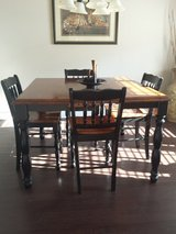 High butterfly table black/cherry stain finish in Eglin AFB, Florida