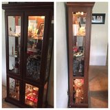 light up curio cabinet hutch china cabinet display case in Travis AFB, California