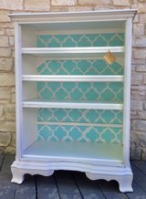 Upcycled shelves in Fort Hood, Texas