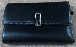 REAL COACH BLACK WALLET WITH RED LINING in Lakenheath, UK