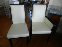 Leather dining chairs like new in Camp Lejeune, North Carolina