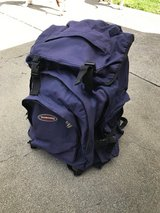 Blue backpack in Travis AFB, California