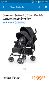 3DTwo Double Convience Stroller in Fort Carson, Colorado