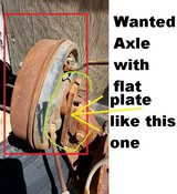 Wanted small straight Axle with hubs                 Please read in Yucca Valley, California
