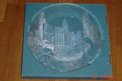 Marshall Fields Chicago Skyline Party Platter by Pilgrim Glass in Lockport, Illinois