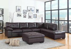 NEW LARGE SECTIONAL WITH STORAGE OTTOMAN in Riverside, California
