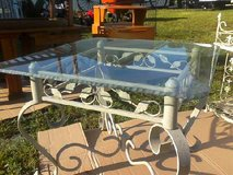 Scalloped Edge glass top side table in Camp Lejeune, North Carolina