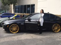 "bmw 22"" gold and carbon fiber custom wheels in Hemet, California"