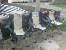 3 folding chairs in Okinawa, Japan