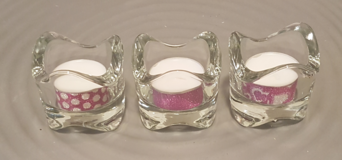 Votive Candles w/vase (uncented) in Ramstein, Germany