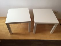 2 White End tables in Ramstein, Germany