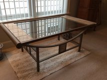 Coffee table, glass, tile and metal in Fairfax, Virginia