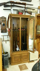 Custom 8 Gun Oak Cabinet in Fort Leonard Wood, Missouri