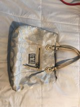 large white coach purse in Lake Elsinore, California