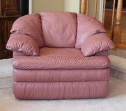Leather reclining chair, 2 available (also 3 reclining matching love seats) in Bartlett, Illinois